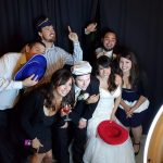 Photo booth bride and guests