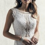Jasper Wedding Dress Sottero and Midgley | crepe fit-and-flare lace wedding dress