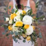 white yellow bouquet